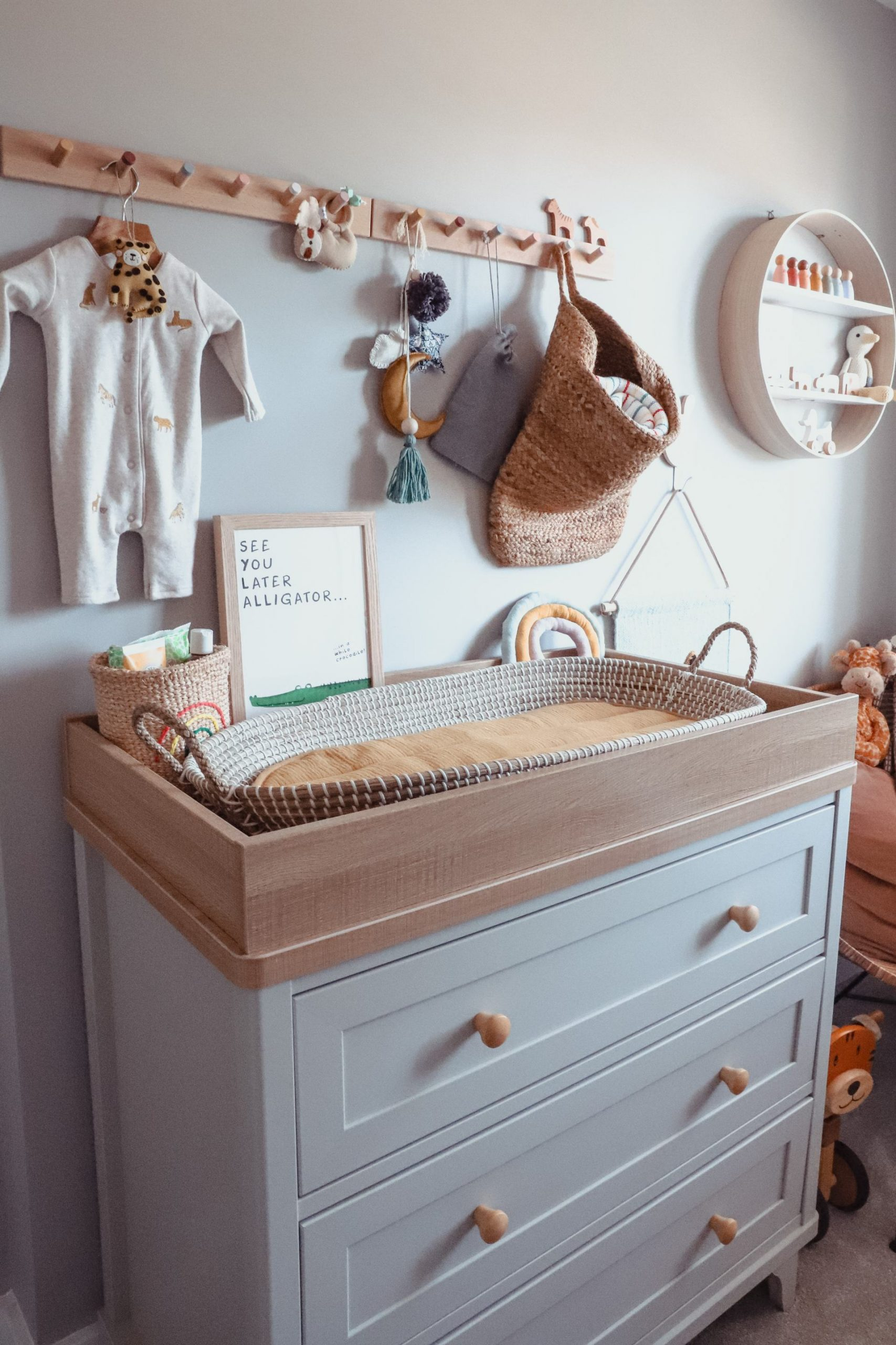 Changing Table in Scandi nursery